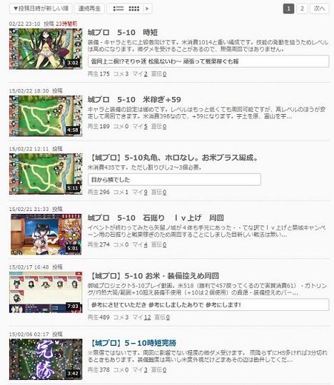 城プロ5-10動画集