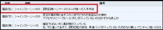 寿ハンマー2016+