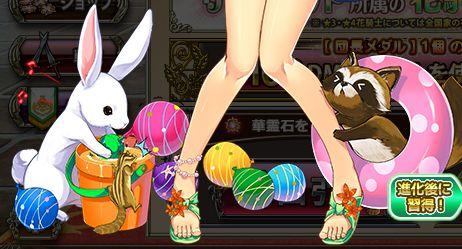 ウサギとタヌキ